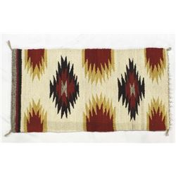 Vintage Native American Navajo Wool Textile Rug