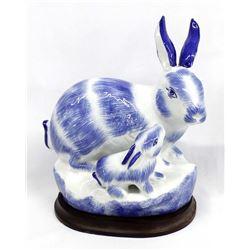 Ceramic Mother Rabbit and Kit