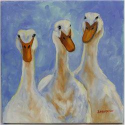 Original Oil Painting ''Lucky Ducks'' by Savarese