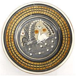 Vintage Mexican Tonala Pottery Decorative Plate