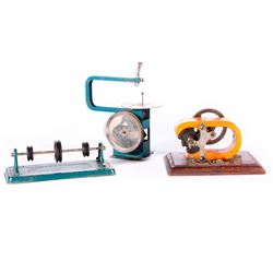 A toy generator and two tools.