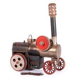 Vintage model steam tractor.