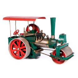 Vintage model toy steam roller.