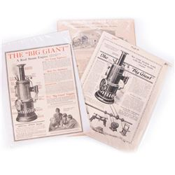 Three vintage toy steam engine adds.