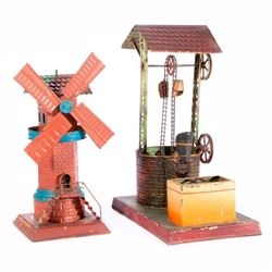 A model well and windmill.