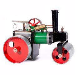 A model steam roller.