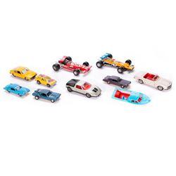 Ten model toys.