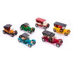 "Six ""Matchbox"" model cars."