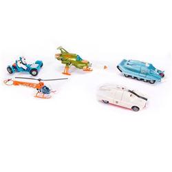 "Five ""Dinky Toys"" models."