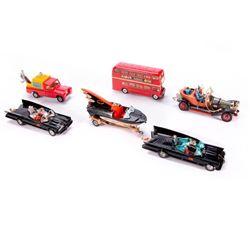Six Corgi model toys.