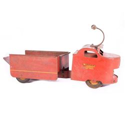 Vintage toy dump truck.