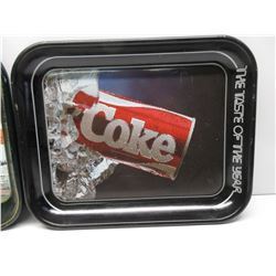 2 - Metal Coca-Cola Trays