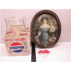 Pepsi-Cola Bottles, Crate, Tray and Patch