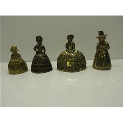 4 Brass Lady Bells all ring