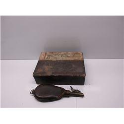 Vintage Shotbag & a Benson & Hedges Cigar box