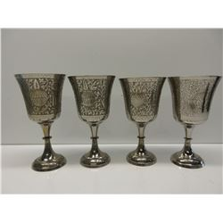 4 Plated Silver Chalice's