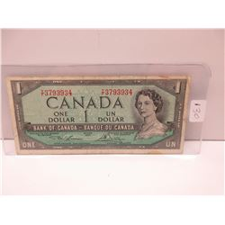 1954 Canadian Dollar bill