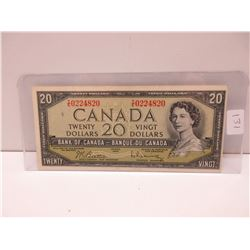 1954 20.00 Canadian bill