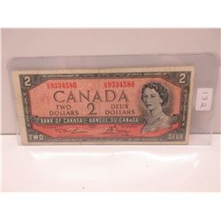 1954 2.00 Canadian bill