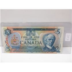 1979 5.00 Canadian bill