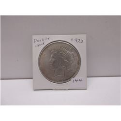 1922 Double Headed Liberty Dollar (Silver??)