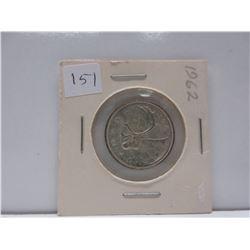1962 .25 Canadian Quarter