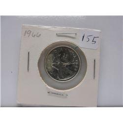 1966 .25 Canadian Quarter