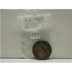 1967 .25 Canadian Quarter