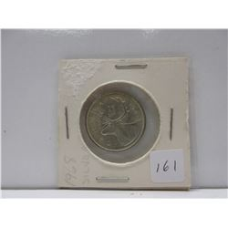 1968 .25 Canadian Quarter .500 Silver