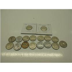 17 - Various Canadian Nickels