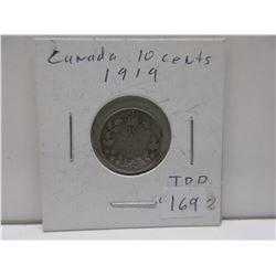 1919 .10 Canada Dime