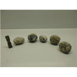 5 Geodes & Necklace Totem Pole