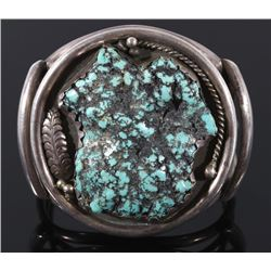 Navajo Old Pawn Lone Mountain Turquoise Bracelet