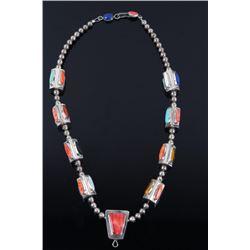 Santa Domingo Matt C. Multistone Silver Necklace