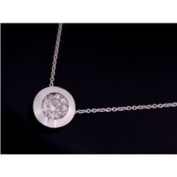 1930-1940's 1.03 carat Platinum Pendant Necklace