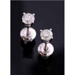 Vintage Estate Diamond & 18K Gold Stud Earrings