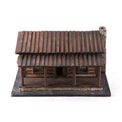Charles Russell Log House Art Studio Model