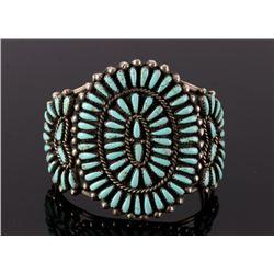 Navajo Petite Point Old Pawn Sterling Bracelet