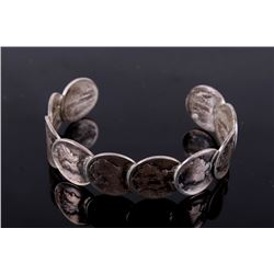 Navajo Coin Silver Mercury Dime Bracelet Old Pawn