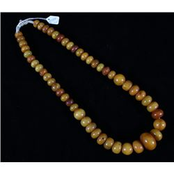 Copal Amber Graduated Trade Bead necklace c.1800s