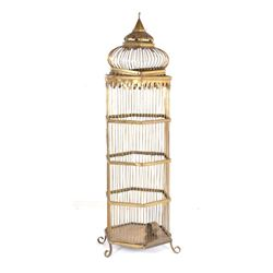 Early 1900s Large Brass Bird Cage