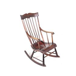 19th Century Windsor Stick Back Rocking Chair