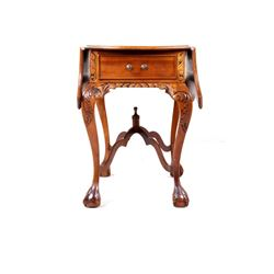 Victorian Checkered Drop Leaf Gaming Table