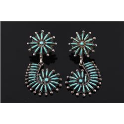 Navajo B. Yazzie Sterling Petite Point Earrings