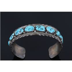 Navajo James Shay Sleeping Beauty Turquoise Cuff