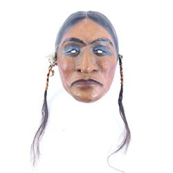 American Indian Crow Painted Mask c. 1890-1910