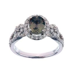 Montana Brown Purple Sapphire & VS1 Diamond Ring