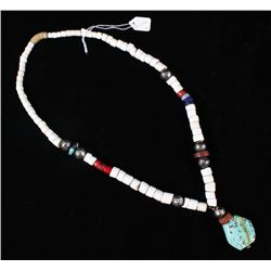 Early Chiefs Turquoise & Trade Bead Necklace
