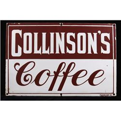 Collinson's Coffee Porcelain Enamel Sign
