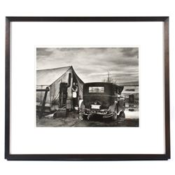 Horace Bristol Tent & Car Grapes of Wrath Photo